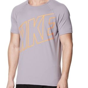 NIKE HYDROGUARD LOGO MEN GRAY TEES - SHORT SLEEVE